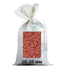 Керамзит фракция 10-20 мм в мешках