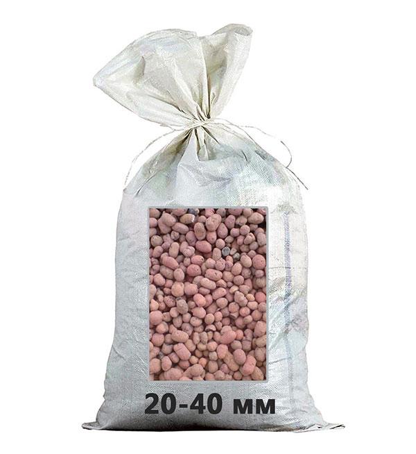 Керамзит фракция 20-40 мм в мешках