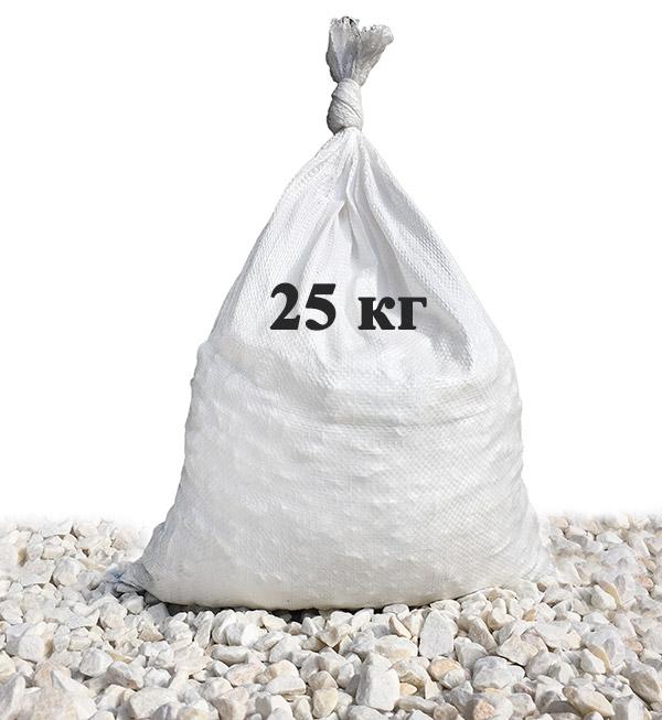 Мраморный щебень 10-20 мм в мешках