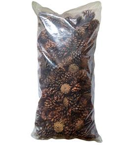 Шишки сосновые в мешках 60 литров
